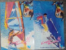 Petit Calendrier De Poche Vacances PTT 1996 - Calendari