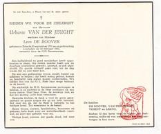 DP Urbanie Van Der Jeught ° Zele 1901 † 1961 X L. De Roover / Vehent Lerno - Devotion Images