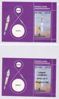 INDE NAGALAND BLOCS ** MNH Neufs Sans Charnière, 2 Valeurs, TB (CLR115) Cosmos, The Moon Programme, Apollo 11 - Inde