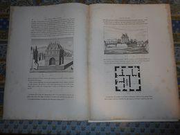 CHATEAU DE LA FERTE SOUS JOUARRE  XVII Eme 4 Pages  HISTOIRE 3 PLANCHES  PLAN   PALAIS ET CHATEAUX DE FRANCE 1867 - Architecture