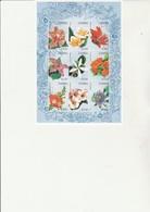 ZAMBIE - FEUILLET FLEURS N° 701 A 709 - NEUF XX -ANNEE 1998 - - Zambie (1965-...)