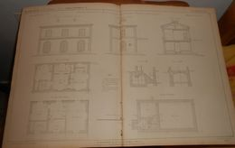 Plan De Type De Station De 4ème Classe Du Chemin De Fer De Saint Etienne à Firminy Bellevue. 1859. - Public Works