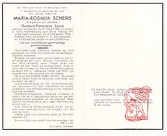 DP Maria Scheirs ° Lokeren † 1954 X Lerno / Coppieters Slabbaert Roels De Vuyst Cornelis Vernimmen Van Peteghem De Bock - Devotion Images