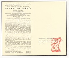 DP Pharaïlde Lerno ° Lokeren 1880 † 1957 X Romain Cornelis - Devotion Images