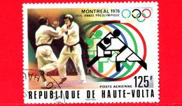 ALTO VOLTA - Usato - 1976 - Giochi Olimpici - Olimpiadi Di Montreal - Arti Marziali - Judo - 125 - P. Aerea - Alto Volta (1958-1984)