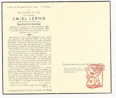 DP Emiel Lerno ° Lokeren 1873 † 1956 X Beatrice De Doncker - Devotion Images