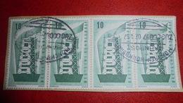 GERMANY DEUTSCHLAND 1956 STRIP OF 4 USED - BRD