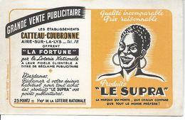 Buvard Produits Le Supra. Etablissements Catteau-Coubronne, Aire-sur-la-Lys. - Alimentaire