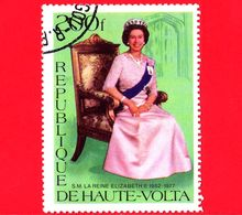 ALTO VOLTA - Usato - 1977 - S.M. La Regina Elisabetta II - Seduta - 200 - Alto Volta (1958-1984)