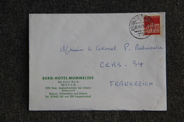 Lettre D'ALLEMAGNE ( BERG HOTEL MUMMELSEE ) Vers FRANCE - BRD