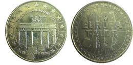 02176 GETTONE TOKEN JETON FICHA COMMEMORATIVE EUROPA PRE EURO BRANDEMBUERGER TOR 10 TALER - Germany