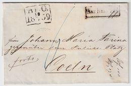 "Finnland, 1859, "" ABO "" Nach Köln   , #9126 - Finland"