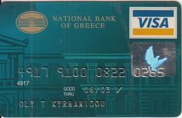 GREECE - National Bank(Schlumberger), Visa, 07/01, Used - Geldkarten (Ablauf Min. 10 Jahre)