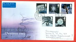 Grand Britain 2003.FDC.Really Passed The Mail.Christmas. - 1952-.... (Elizabeth II)