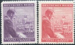 1943 - The 54th Anniversary Of The Birth Of Adolf Hitler - Bohemia & Moravia