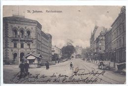 St. Johann    - Saar - Reichsstrasse   - **AK-87900** - Saarbruecken