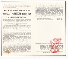 DP Gustaaf F. Ghijsels ° 1883 † Heikant Zele 1950 X M. Lerno / Van Driessche - Devotion Images