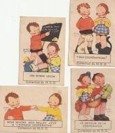 Lot De 4 Images COOP - Scènes Enfantines Illustrées Par Béatrice MALLET - Otros
