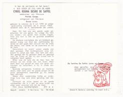 DP Cyriel R. De Saffel ° Lokeren 1890 † 1963 X F. Cnops Xx E. Lerno - Devotion Images