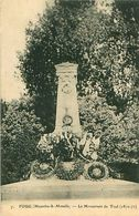 Cpa FOUG 54 Le Monument De Toul 1870 -71 - Foug