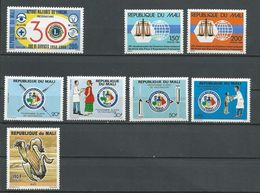 MALI Scott 554, 559-562, 563-564, 658 Yvert 550, 555-558, 559-560, ? (8) ** Cote 9,25$ 1988-94 - Mali (1959-...)