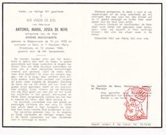 DP Antonia M. De Neve ° Waasmunster 1923 † Gent 1960 X W. Walschaerts / Laureys Pharasyn - Devotion Images