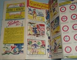 Rare Ancien Dépliant Publicitaire, Pub Chocolat POULAIN, Code De La Route, Signalisation, Panneaux Routier - Pubblicitari