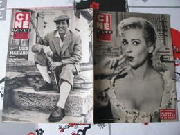 CINE REVUE N°42- 1954 - MARTINE CAROL - LUIS MARIANO - Cinéma