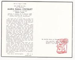 DP Maria E. Cocquet ° Lokeren 1888 † 1961 X Joseph Lerno - Devotion Images