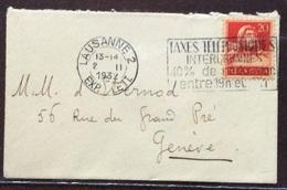 TELEFONO SVIZZERA  ANNULLO PUBBLICITARIO A TARGHETTA SU BUSTA DEL  2/2/1932 - Francobolli