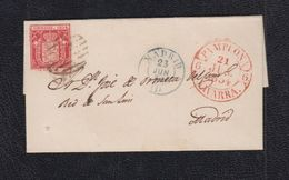 1854.- PAMPLONA A MADRID - Covers & Documents