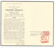 DP Theophiel Meganck ° Lokeren 1874 † 1954 X Celestine Lerno - Devotion Images