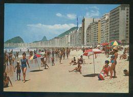 Brasil. RJ - Río Janeiro. *Praia De Copacabana* Circulada 1964 - Brasil