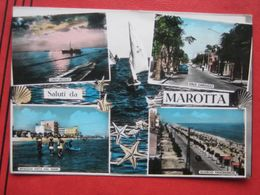"Mondolfo (Pesaro E Urbino) - Mehrbildkarte ""Saluti Da Marotta"" / Viale Carducci, Crepuscolo ... 1968 - Italia"