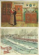 Paintings -. Carl Larsson. 2 Cards. # 05174 - Paintings