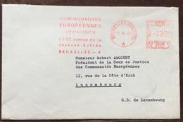 RADIO  E EUROPA BELGIO  ANNULLO PUBBLICITARIO ROSSO A TARGHETTA SU BUSTA IN DATA 17/10/68 - Francobolli