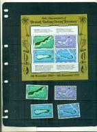 OCEAN INDIEN 10 TERRITOIRE 4 VAL + BF NEUFS A PARTIR DE 1.25 EUROS - Territoire Britannique De L'Océan Indien