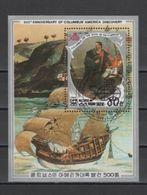 (S1161) NORTH KOREA 1988 (Columbus' Discovery Of America). Souvenir Sheet Mi # 2905 (Block 232). First Day Cancellation - Corée Du Nord