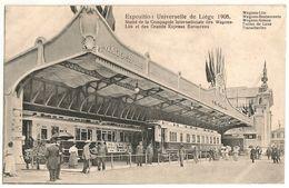 Liège>1906 AVRIL 9 Timbre 1c ANGLEUR_WAGONS LITS Exposition Universelle De Liège - CPA - Liege