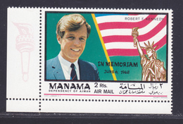 AJMAN AERIENS ** MNH Neuf Sans Charnière, 1 Valeur, TB (D4717) Mémoire Du Président Kennedy - Ajman