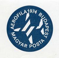 CINDERELLA : BUDAPEST - AEROFILA 1974, MAGYAR POSTA - Cinderellas