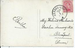 Fantasiekaart Met OCB 138 - Afstempeling KESSEL-LOO - 1915-1920 Albert I