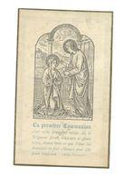 IMAGE PIEUSE...Communion Geneviève DELACOMMUNE, Eglise St François Xavier à PARIS 7e, En 1892 - Devotion Images
