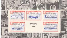 Guernsey SARK Europa JFK Border 1966 Miniature Sheet - Unmounted Mint NHM - Guernsey