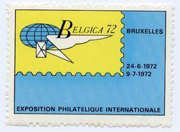 CINDERELLA : BELGIUM / BELGIQUE - BELGICA 72, BRUXELLES, EXPOSITION PHILATELIQUE INTERNATIONALE - Cinderellas