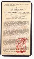 DP Marie Rosalie Lerno ° Lokeren 1861 † 1932 - Devotion Images