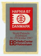 CINDERELLA : DENMARK / DANMARK - HAFNIA 87, WORLD PHILATELIC EXHIBITION, KOBENHAVN - Cinderellas