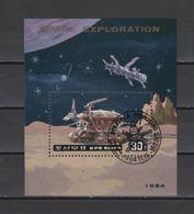 (S1649) NORTH KOREA 1984 (Space Exploration). Souvenir Sheet Mi # 2525 (Block 190). First Day Cancellation - Corée Du Nord