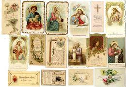 LOT 115  IMAGES RELIGIEUSES    DIVERS FORMAT Nombreuse Vers 1900 / 1930 - Images Religieuses