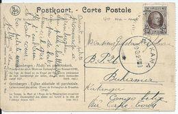 Fantasiekaart Met OCB 196 Verstuurd Naar Belgisch Congo (voorkeurtarief) - 1922-1927 Houyoux